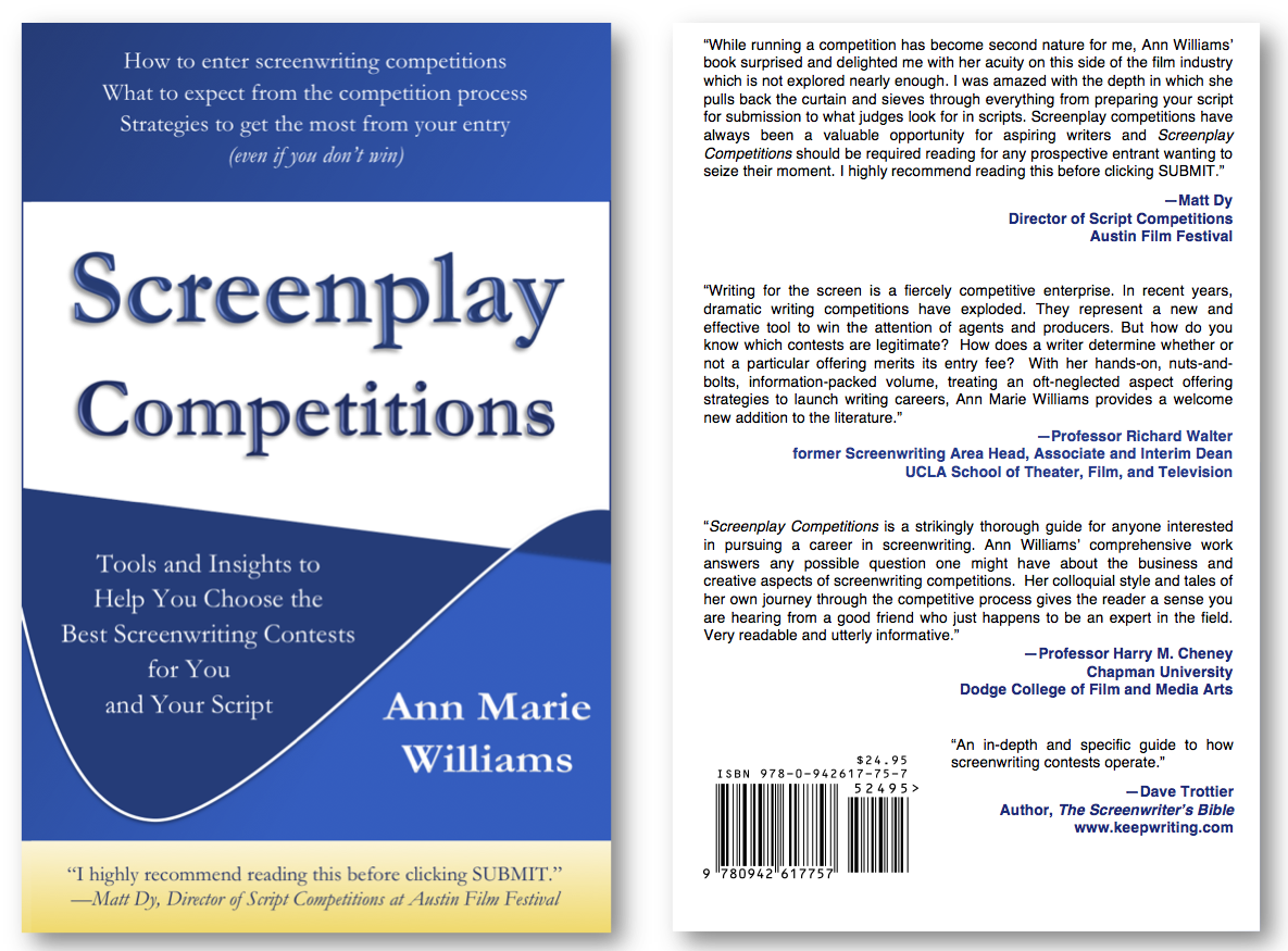 Screenplay Competitions book front and back cover